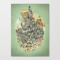 emerald Canvas Prints featuring Emerald City by David Fleck