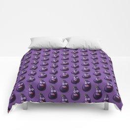 Funny Cartoon Eggplant Pattern Comforters