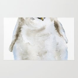 Baby Penguin Watercolor Rug