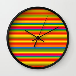 Colour Line Stripes 549 Wall Clock
