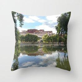 Potala Palace Tibet Throw Pillow