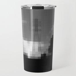 Pixelated Pylons Travel Mug
