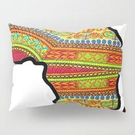 Gold Dashiki Africa Map Pillow Sham