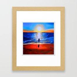 Beach sunset in Cape Leveque, Western Australia Framed Art Print
