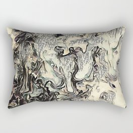 Texture Overlay Abstract Design Rectangular Pillow