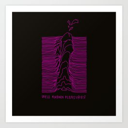 well known pleasures Art Print