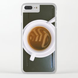 Morning Coffee Clear iPhone Case