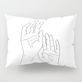 Hands minimal line drawing Pillow Sham