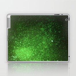 Green and Black Spray Paint Splatter Laptop & iPad Skin