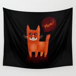 Scruffy Cat Wall Tapestry