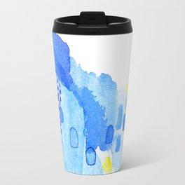 Arpeggio: a bright, colorful mix of purple, blue and yellow Travel Mug