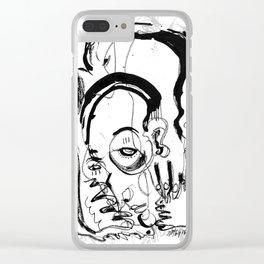 Downfall - b&w Clear iPhone Case