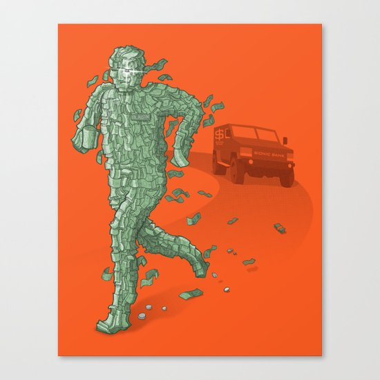 The Six Million Dollar Man Canvas Print