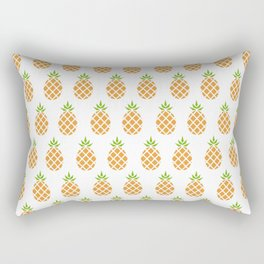 Plain Pineapple Print Color Rectangular Pillow