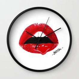 Sexy Red Lips Wall Clock