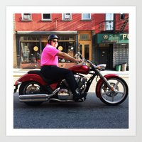 Motorcycle Monday Art Print