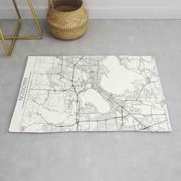 Madison Map White Rug