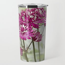 Pink Flowers in the Mist Travel Mug