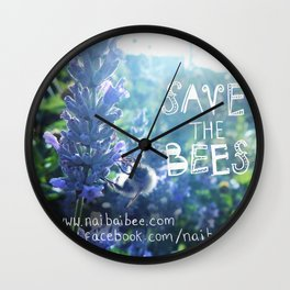 Save the Bees Campaign Wall Clock