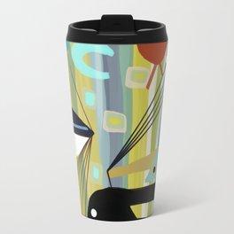 Mid Century Modern Fish Art Travel Mug