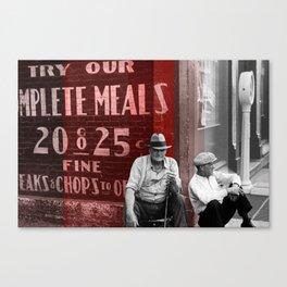 25 Cent Chops Canvas Print