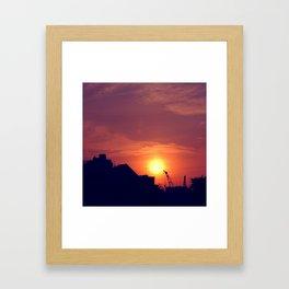 Sunset at Clarke Quay Framed Art Print