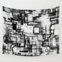 techno Wall Tapestries featuring Techno Fantasy 002 by MehrFarbeimLeben
