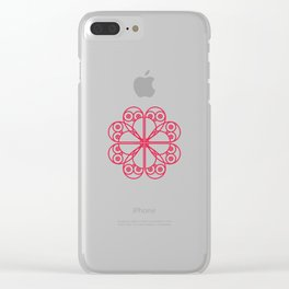 076 owl heart Clear iPhone Case