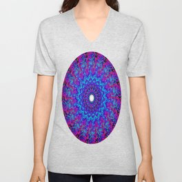 Fluid Abstract 36 Unisex V-Neck