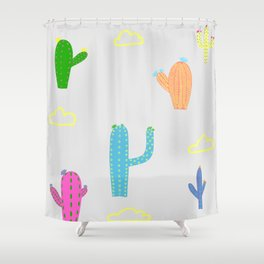 Friendly Cacti Shower Curtain