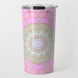 Lotus Blossom Mandala Travel Mug