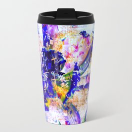 Shattered Blues Travel Mug