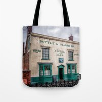 bar Tote Bags featuring Victorian Bar by Adrian Evans