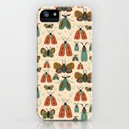 Minty butterflies iPhone Case