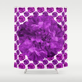 Just for Fun - Large Peony With Tiny Peonies #decor #society6 #buyart Shower Curtain