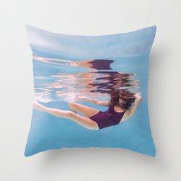 Underwater Glide Throw Pillow