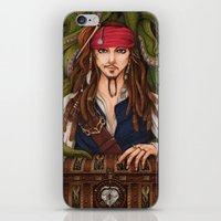 jack sparrow iPhone & iPod Skins featuring Jack Sparrow by sika-chan