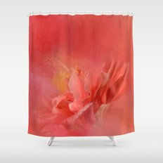 Salmon Hibiscus 3 - Floral Shower Curtain