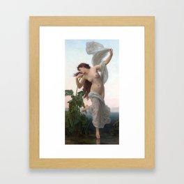Dawn by William Adolphe Bouguereau (Nude Art) Framed Art Print