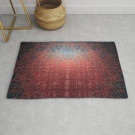 Sunrise in Shangri-La - Abstract Copper Metal Painting Rug