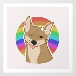 PRIDE Dog Art Print