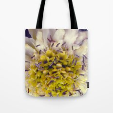 Flower Purple Yellow Tote Bag