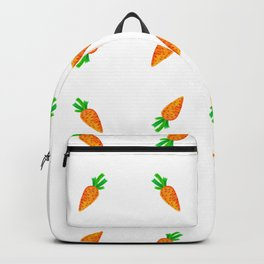 Hand painted green orange watercolor carrots pattern Backpack