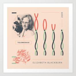 Beyond Curie: Elizabeth Blackburn Art Print