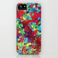 POND IN PIGMENT - Bright Bold Neon Abstract Acylic Floral Aquatic Painting Dots Pattern Trendy Gift  Slim Case iPhone (5, 5s)