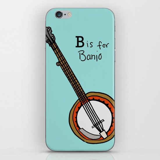 B is for Banjo  iPhone & iPod Skin