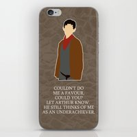 merlin iPhone & iPod Skins featuring Merlin by MacGuffin Designs