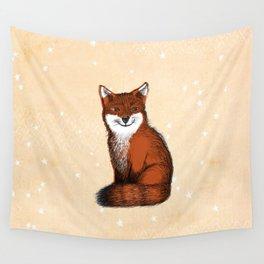 Feeling Foxy Woodland Animal Illustration Wall Tapestry