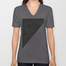 Geometrical Color Block Diagonal Concrete Vs White Unisex V-Ausschnitt