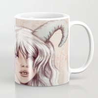aries Mugs featuring Aries by Vivian Lau